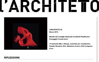 """il 3° numero de """"l'architetto"""" -rivista digitale del CNAPPC"""